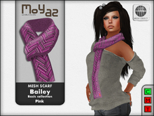 Bailey Mesh Scarf ~ Basic collection - Pink