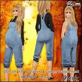 Overalls for pregnant women <Bella> Denim