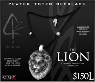 -Pewter Totem Necklace - LION - by Khyle Sion at ~Refined Wild~
