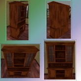 Dark Oak Glass Cupboard. Mesh