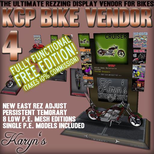 KCP Bike Vendor 4.0 FREE EDITION Ultimate rezzing mesh motorcycle vendor