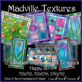 Madville Textures - Victorian Stained Glass Textures Happy tagFantasy