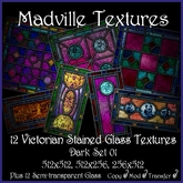 Madville Textures - Victorian Stained Glass Textures Dark 01