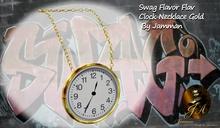 Big Clock Gold Swag Necklace