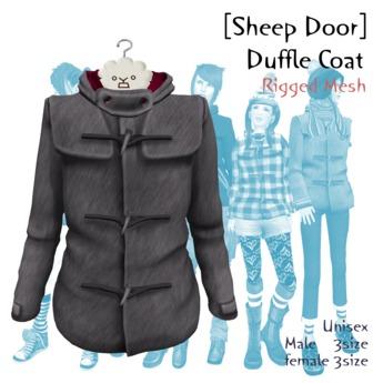 [Sheep Door] Duffle Coat (Mesh) Gray