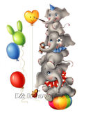 Elephant Fun Kids Wall Sticker