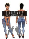 G A R B A G E - Cakez Acid Wash Jeans *blue*
