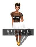 G A R B A G E - Celine Paris black sheer top