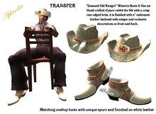 "Western Boots & Hat Set ""Damned Old Ranger""  (boxed)"