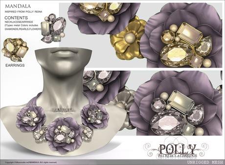 MANDALA]POLLY Neclace&Earring set/LAVENDER(Wear me to UNPACK)