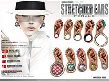 FEMALE[MANDALA]Stretched EARS-OMIMI-(wear Me to Unpack)!