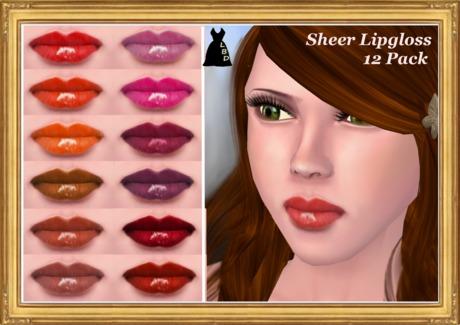 *LBD* Glossy Sheer Lipstick 12 Pack