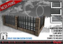 [G] Simple Iron Fence - Mesh