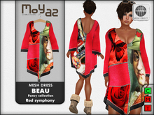 Beau Mesh dress ~ Fancy collection - Red Symphony