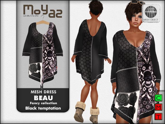 Beau Mesh dress ~ Fancy collection - Black Temptation