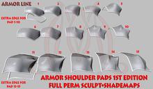Shoulder pads 1st edition FULL PERM SCULPT+SHADEMAPS ARMOR