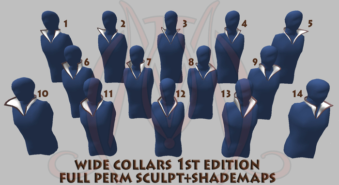 Wide collars 1st edition FULL PERM SCULPT+SHADEMAPS