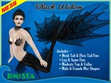 =LunaSea= Mermaid Tail - Black Widow