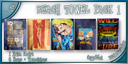 WaterWorks Smooth Animated Beach Towel - Pack 1