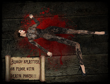 Bloody Splatter on Floor with Poses