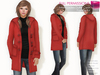 FULL PERM CLASSIC RIGGED MESH Women's Female Ladies Open Front Long Sleeve Duffle Coat with Hoodie - 3 TEXTURES