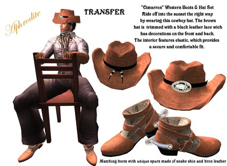 "Western Boots & Hat Set ""Cimarron""  (boxed)"
