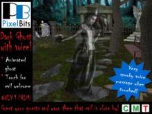 Floating Dark Ghost (fem) with voice - 1 prim!