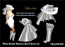 Western Bridal Boots & Hat Set (boxed)