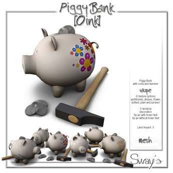 Sway's PiggyBank [Oink] taupe