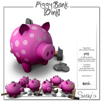 Sway's PiggyBank [Oink] pink