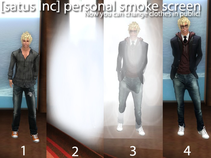 [satus Inc] Personal Smoke Screen v1.0 (for changing clothes in public)