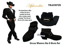 Western Groom Boots & Hat Set (boxed)