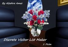 Discrete Visitor List Maker (Vase with flowers)