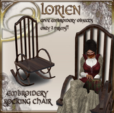 LORIEN EMBRODERY ROCKING CHAIR