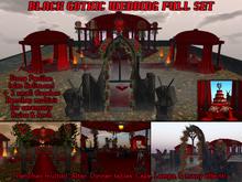 Black Red Gothic Wedding Full set - Rez-Faux
