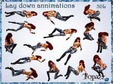 Topazz - Lay down animations (Hud)