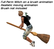 Witch flying on a brush animation - Full Perm - perfect for halloween