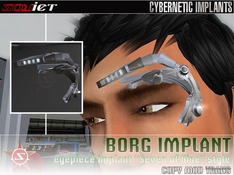Borg Eyepiece Implant (Seven of Nine style) COPY/MOD