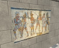 Ancient art - Mosaic of gladiators