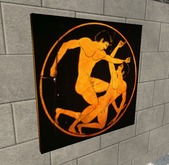 Ancient art - Kylix of Greek wrestling
