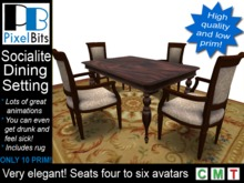 Socialite Dining Setting - animated. LOW PRIMS!
