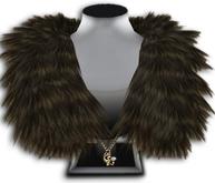 ((Crystal Line))Fur Stole-Brown