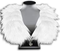 ((Crystal Line))Fur Stole-White