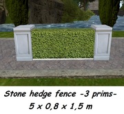 Stone hedge fence