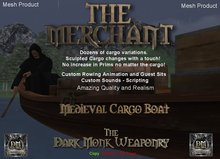 Dark Monk - The Merchant - Medieval Cargo Boat Boxed