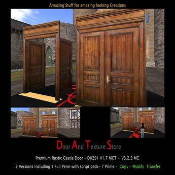 Rustic Castle Door - Victorian Door - Mansion Door D0291 Box