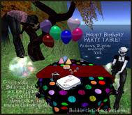 Happy Birthday Party Table with Accessories