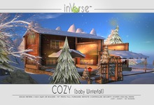 COZY (Baby Winterfalls) -  full furnished winter cottage skybox - 350+anims
