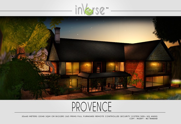 PROVENCE- full furnished house cottage skybox 500+ anims!