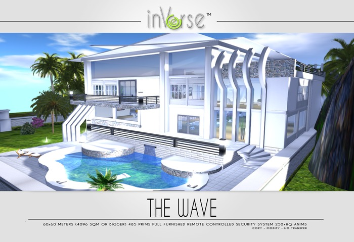 THE WAVE multianimated furnished house skybox OVER 260 ANIMATIONS
